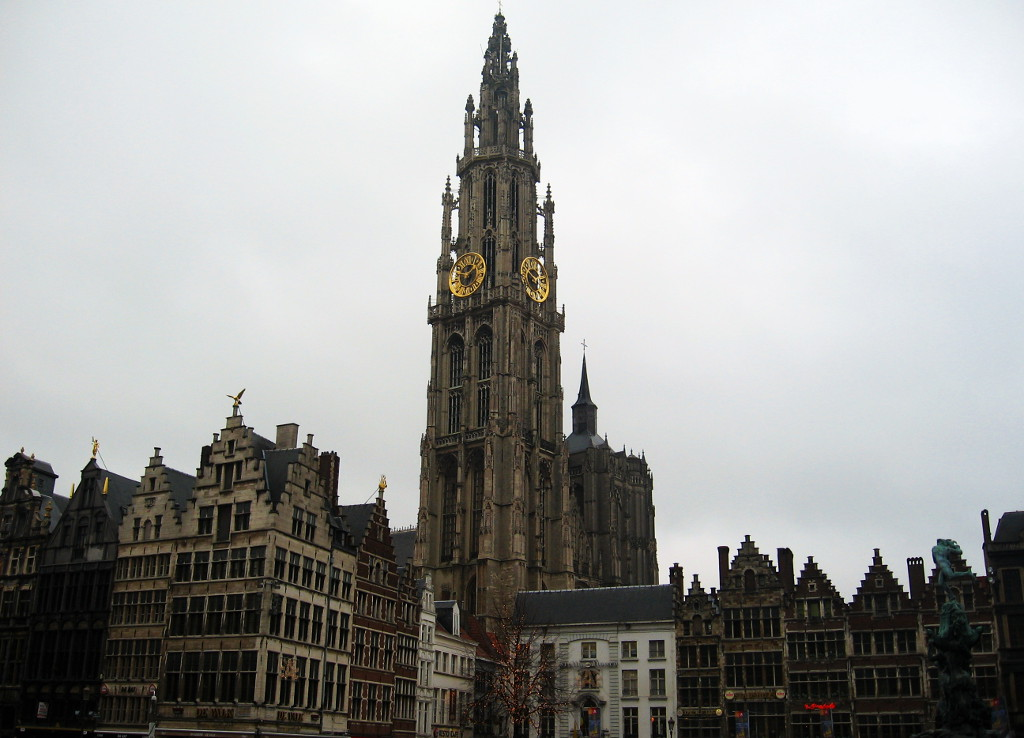 Antwerp - Cathedral and Merchants Houses