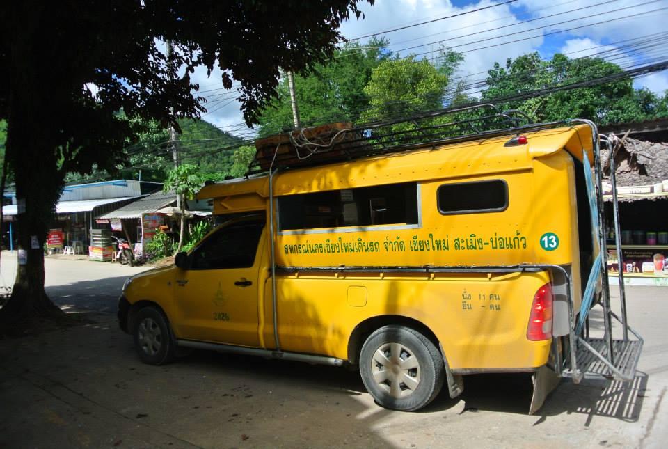 Yellow bus in Chiangmai