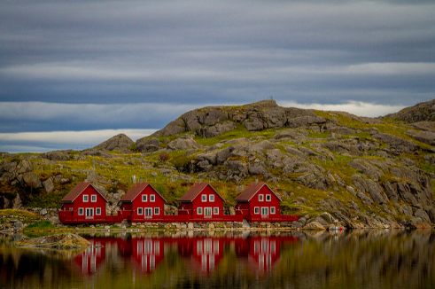 Red Houses in Norway