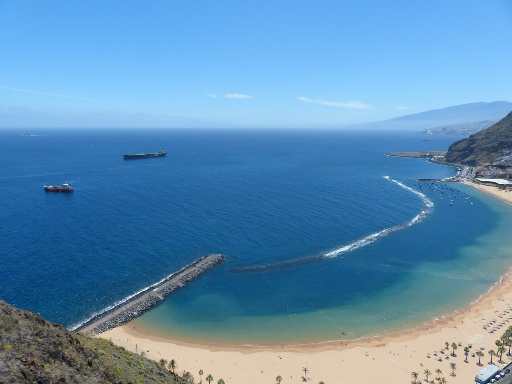 Sand beach, Tenerife, Source: https://pixabay.com/en/beach-water-sea-coast-sand-beach-406434/