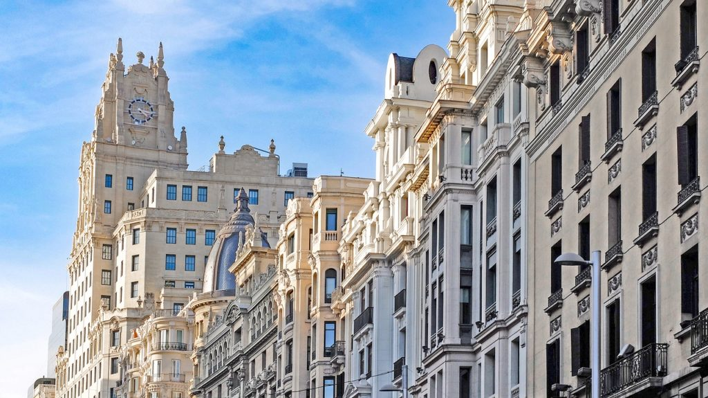 Madrid, Source: https://pixabay.com/en/spain-madrid-building-architecture-1832506/