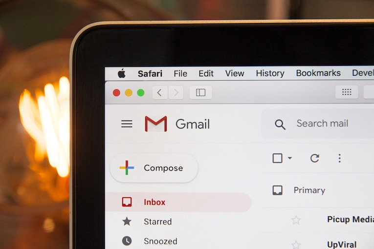 Gmail on a laptop screen