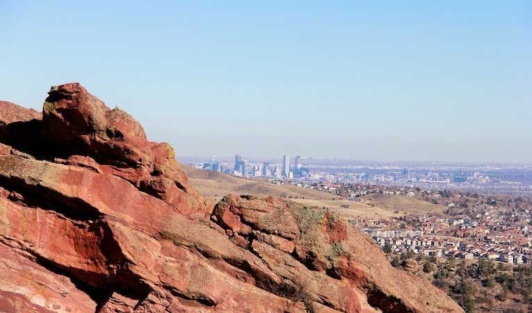 a view of denver, colorado at a distance