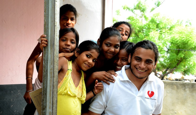 group of volunteers in india