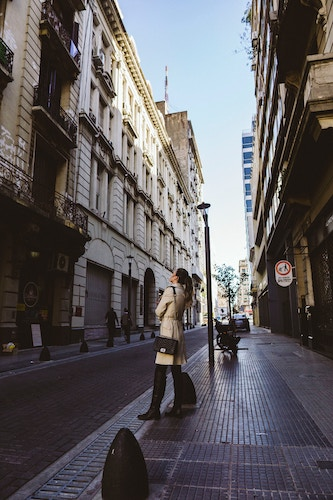 person standing on buenos aires street