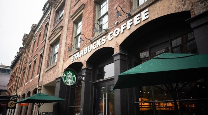view of starbucks storefront
