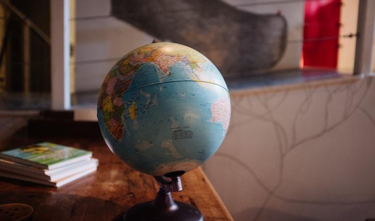 globe on a desk top