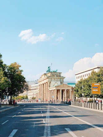 view of buildings down a berlin street
