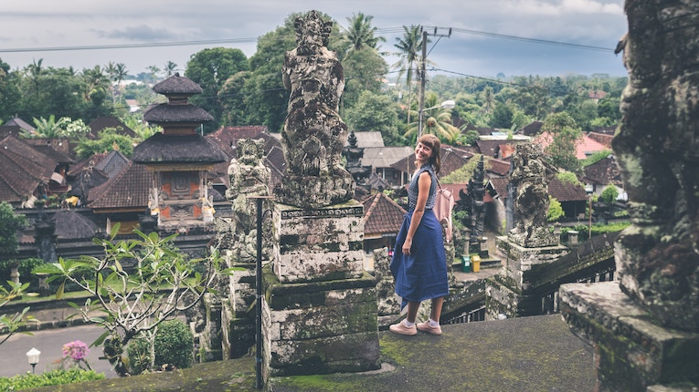 person posing in bali