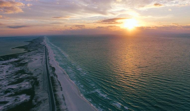 gulf breeze, florida at golden hour
