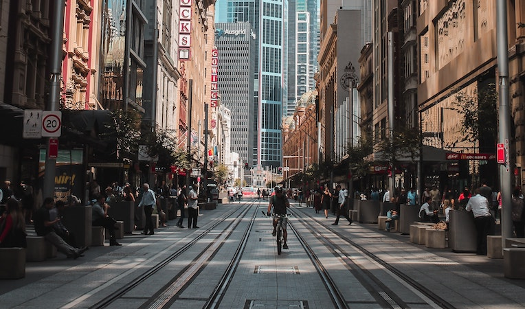 george street in sydney, australia