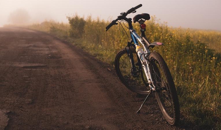 bike on a path